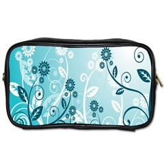 Flower Blue River Star Sunflower Toiletries Bags 2 Side by Mariart