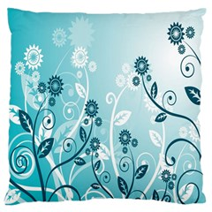 Flower Blue River Star Sunflower Large Flano Cushion Case (two Sides)