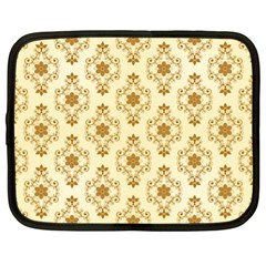 Flower Brown Star Rose Netbook Case (xl)  by Mariart