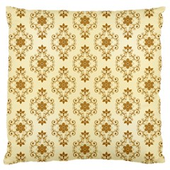 Flower Brown Star Rose Large Cushion Case (one Side)