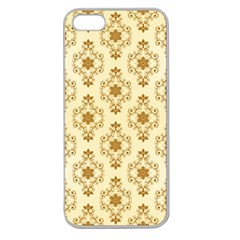 Flower Brown Star Rose Apple Seamless Iphone 5 Case (clear) by Mariart