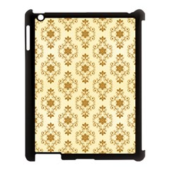 Flower Brown Star Rose Apple Ipad 3/4 Case (black) by Mariart