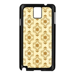 Flower Brown Star Rose Samsung Galaxy Note 3 N9005 Case (black) by Mariart