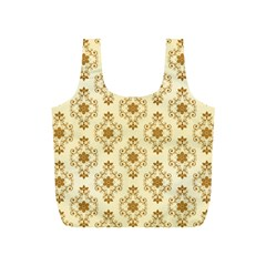 Flower Brown Star Rose Full Print Recycle Bags (s)  by Mariart