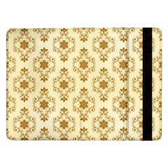 Flower Brown Star Rose Samsung Galaxy Tab Pro 12 2  Flip Case by Mariart