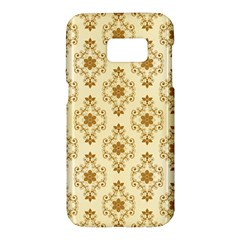 Flower Brown Star Rose Samsung Galaxy S7 Hardshell Case  by Mariart