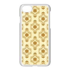 Flower Brown Star Rose Apple Iphone 7 Seamless Case (white) by Mariart