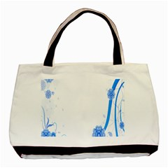 Flower Blue Sunflower Star Sexy Basic Tote Bag (two Sides) by Mariart