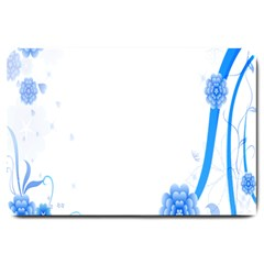 Flower Blue Sunflower Star Sexy Large Doormat  by Mariart