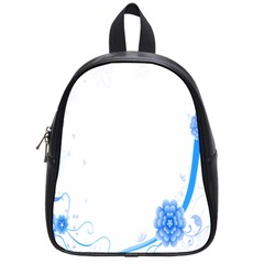 Flower Blue Sunflower Star Sexy School Bag (small) by Mariart