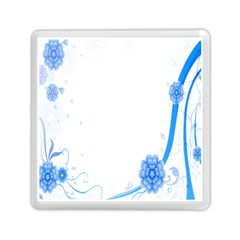 Flower Blue Sunflower Star Sexy Memory Card Reader (square)  by Mariart