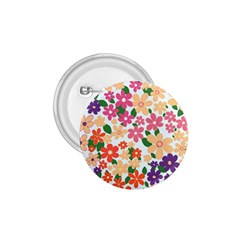 Flower Floral Rainbow Rose 1 75  Buttons
