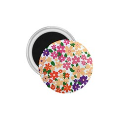 Flower Floral Rainbow Rose 1 75  Magnets by Mariart