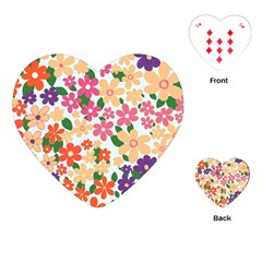 Flower Floral Rainbow Rose Playing Cards (heart)  by Mariart