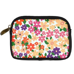 Flower Floral Rainbow Rose Digital Camera Cases by Mariart