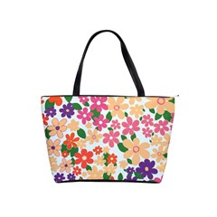 Flower Floral Rainbow Rose Shoulder Handbags by Mariart