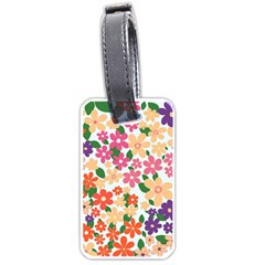 Flower Floral Rainbow Rose Luggage Tags (two Sides) by Mariart