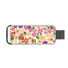 Flower Floral Rainbow Rose Portable Usb Flash (one Side) by Mariart