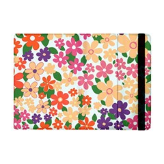 Flower Floral Rainbow Rose Apple Ipad Mini Flip Case by Mariart