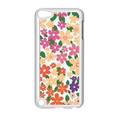 Flower Floral Rainbow Rose Apple Ipod Touch 5 Case (white) by Mariart