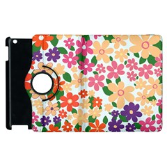 Flower Floral Rainbow Rose Apple Ipad 2 Flip 360 Case by Mariart