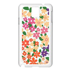 Flower Floral Rainbow Rose Samsung Galaxy Note 3 N9005 Case (white) by Mariart
