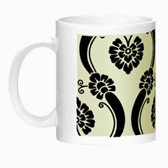 Flower Floral Black Sexy Star Black Night Luminous Mugs by Mariart