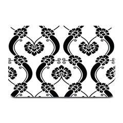 Flower Floral Black Sexy Star Black Plate Mats