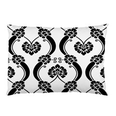 Flower Floral Black Sexy Star Black Pillow Case by Mariart