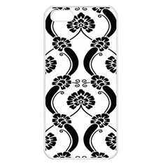 Flower Floral Black Sexy Star Black Apple Iphone 5 Seamless Case (white) by Mariart