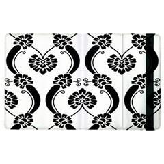 Flower Floral Black Sexy Star Black Apple Ipad 2 Flip Case by Mariart