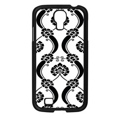 Flower Floral Black Sexy Star Black Samsung Galaxy S4 I9500/ I9505 Case (black) by Mariart