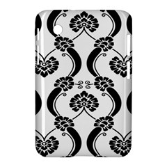 Flower Floral Black Sexy Star Black Samsung Galaxy Tab 2 (7 ) P3100 Hardshell Case  by Mariart
