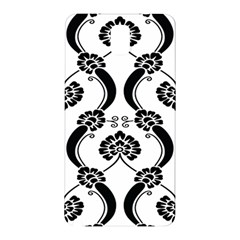 Flower Floral Black Sexy Star Black Samsung Galaxy Note 3 N9005 Hardshell Back Case by Mariart