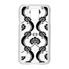 Flower Floral Black Sexy Star Black Samsung Galaxy S5 Case (white) by Mariart