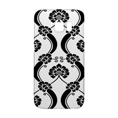 Flower Floral Black Sexy Star Black Galaxy S6 Edge by Mariart