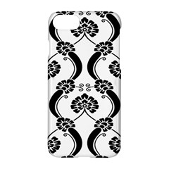 Flower Floral Black Sexy Star Black Apple Iphone 7 Hardshell Case by Mariart