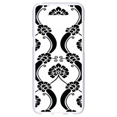 Flower Floral Black Sexy Star Black Samsung Galaxy S8 White Seamless Case by Mariart