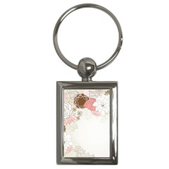 Flower Floral Rose Sunflower Star Sexy Pink Key Chains (rectangle)  by Mariart