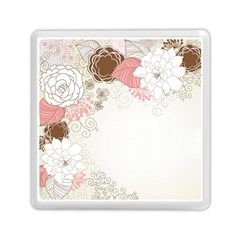 Flower Floral Rose Sunflower Star Sexy Pink Memory Card Reader (square)  by Mariart