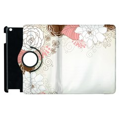 Flower Floral Rose Sunflower Star Sexy Pink Apple Ipad 3/4 Flip 360 Case by Mariart