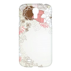 Flower Floral Rose Sunflower Star Sexy Pink Samsung Galaxy S4 I9500/i9505 Hardshell Case by Mariart