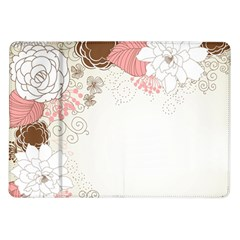Flower Floral Rose Sunflower Star Sexy Pink Samsung Galaxy Tab 10 1  P7500 Flip Case by Mariart
