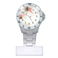 Flower Floral Rose Sunflower Star Sexy Pink Plastic Nurses Watch