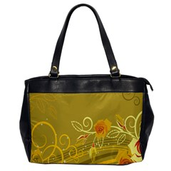 Flower Floral Yellow Sunflower Star Leaf Line Gold Office Handbags by Mariart