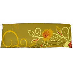 Flower Floral Yellow Sunflower Star Leaf Line Gold Body Pillow Case Dakimakura (two Sides) by Mariart