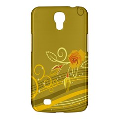 Flower Floral Yellow Sunflower Star Leaf Line Gold Samsung Galaxy Mega 6 3  I9200 Hardshell Case by Mariart