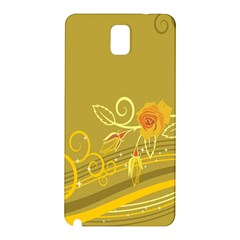 Flower Floral Yellow Sunflower Star Leaf Line Gold Samsung Galaxy Note 3 N9005 Hardshell Back Case by Mariart