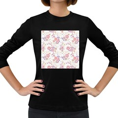 Flower Floral Sunflower Rose Purple Red Star Women s Long Sleeve Dark T Shirts