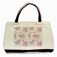 Flower Floral Sunflower Rose Purple Red Star Basic Tote Bag (two Sides) by Mariart